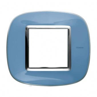 pvc рамка, liquid blue, bticino, axolute, hb4802dz
