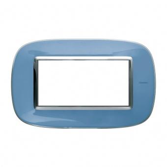 pvc четиримодулна рамка, liquid blue, bticino, axolute, hb4804dz