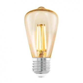 led лампа 3,5w, е27, топла светлина, eglo, filament, 2200k, 11553