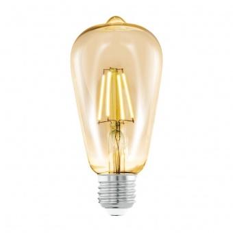 led лампа 4w, e27, топла светлина, eglo, filament, 2200k, 11521