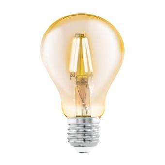 led лампа 4w, е27, топла светлина, eglo, filament, 2200k, 11555