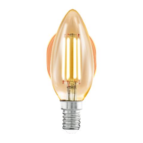 led лампа 4w, е14, топла светлина, eglo, filament, 2200k, 11557