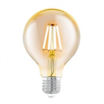 led лампа 4w, е27, топла светлина, eglo, filament, 2200k, 11556