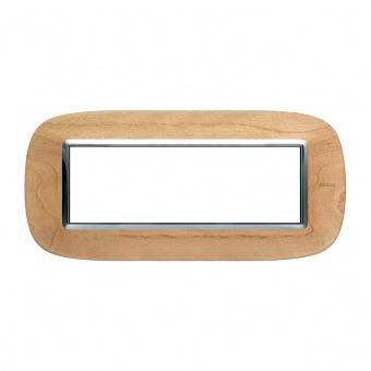 дървена шестмодулна рамка, maple, bticino, axolute, hb4806lae