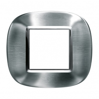 метална рамка, brushed alessi stainless steel, bticino, axolute, hb4802axs