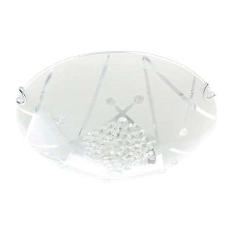 стъклен плафон, бял, elbulgaria, 1x40w, 1011/30