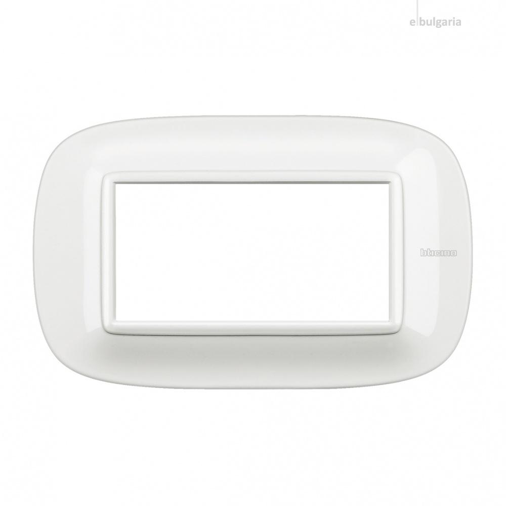 четиримодулна рамка, axolute white, bticino, axolute, hb4804hd