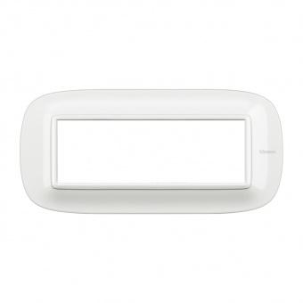 шестмодулна рамка, axolute white, bticino, axolute, hb4806hd