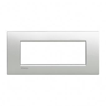 метална седеммодулна рамка, tech, bticino, livinglight air, lnc4807te
