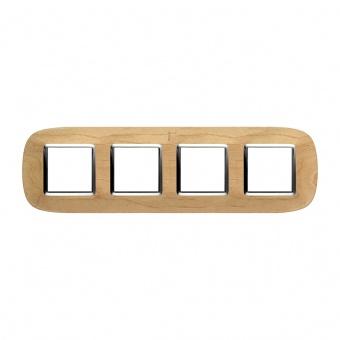 дървена четворна рамка, maple, bticino, axolute, hb4802/4lae