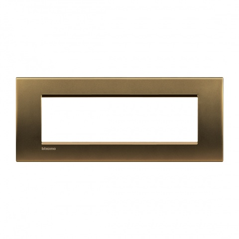 метална седеммодулна рамка, bronze, bticino, livinglight, lna4807bz