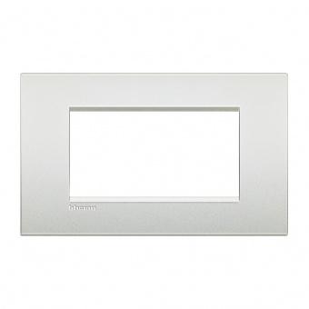 метална четиримодулна рамка, pearl white, bticino, livinglight air, lnc4804pr