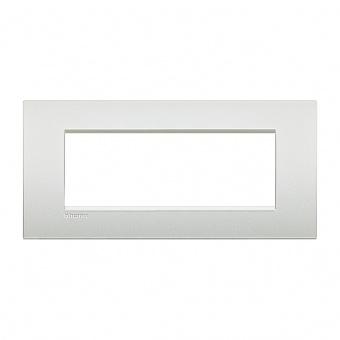 метална седеммодулна рамка, pearl white, bticino, livinglight air, lnc4807pr