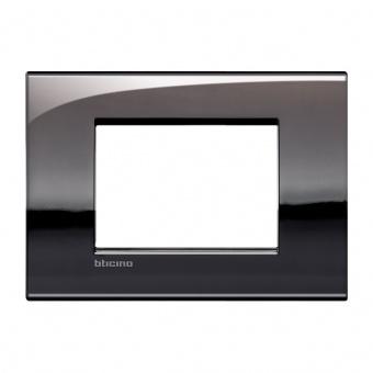 метална тримодулна рамка, pewter, bticino, livinglight air, lnc4803pt