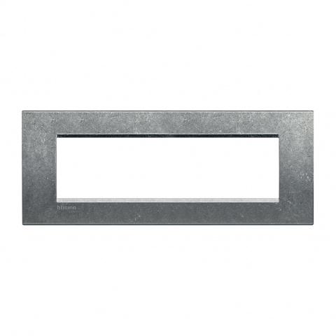 метална седеммодулна рамка, native, bticino, livinglight, lna4807na