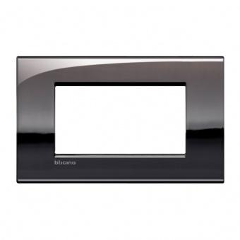 метална четиримодулна рамка, pewter, bticino, livinglight air, lnc4804pt