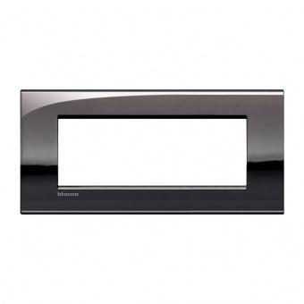 метална седеммодулна рамка, pewter, bticino, livinglight air, lnc4807pt