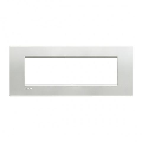 метална седеммодулна рамка, silver,  bticino, livinglight, lna4807ag