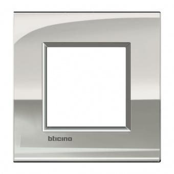 метална рамка, palladium, bticino, livinglight air, lnc4802pl