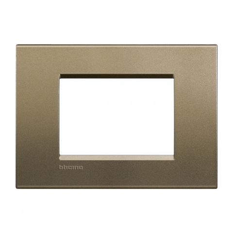метална тримодулна рамка, square, bticino, livinglight, lna4803sq