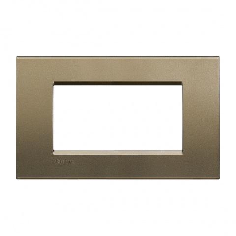 метална четиримодулна рамка, square, bticino, livinglight, lna4804sq