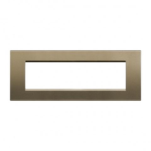 метална седеммодулна рамка, square, bticino, livinglight, lna4807sq