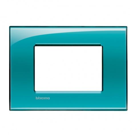 pvc тримодулна рамка, green,  bticino, livinglight, lna4803vd