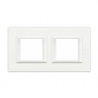 двойна рамка, axolute white, bticino, axolute, ha4802m2hhd