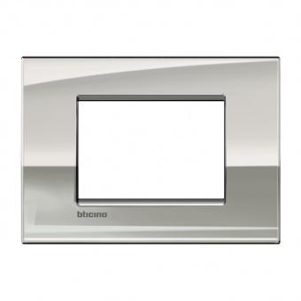 метална тримодулна рамка, palladium, bticino, livinglight air, lnc4803pl