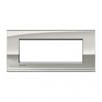 метална седеммодулна рамка, palladium, bticino, livinglight air, lnc4807pl