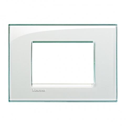 pvс тримодулна рамка, aquamarine, bticino, livinglight, lna4803ka