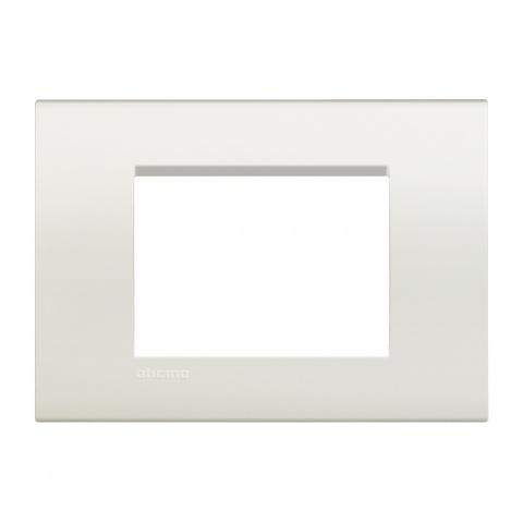 pvс тримодулна рамка, white, bticino, livinglight, lna4803bi