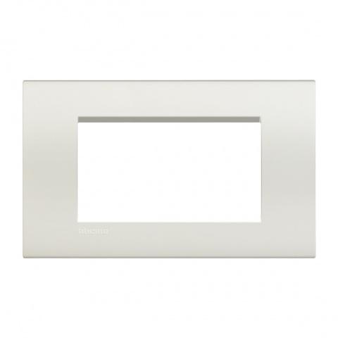 pvс четиримодулна рамка, white, bticino, livinglight, lna4804bi