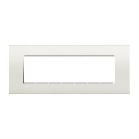 pvс седеммодулна рамка, white, bticino, livinglight, lna4807bi