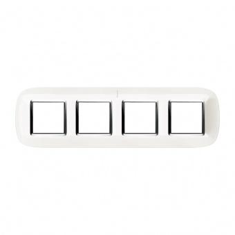 четворна рамка , axolute white, bticino, axolute, hb4802m4hd