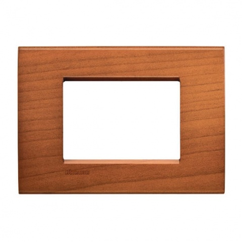 дървена тримодулна рамка, cherrywood, bticino, livinglight, lna4803lca