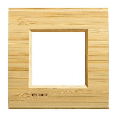 дървена рамка, bamboo,  bticino, livinglight, lna4802lba