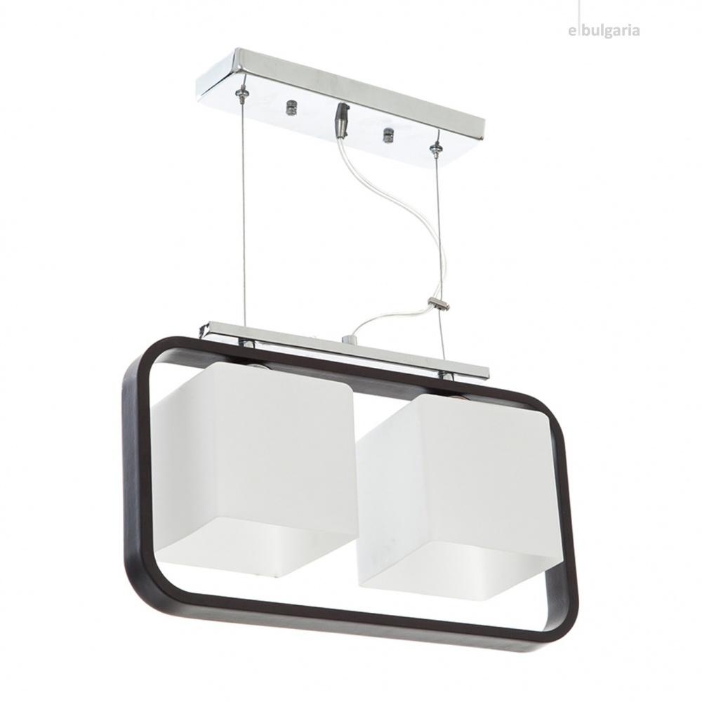 стъклен полилей, бял, elbulgaria, 2x40w, 700/2p