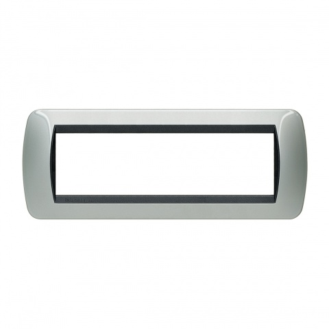 седеммодулна рамка, light aluminium, bticino, livinglight, l48027al