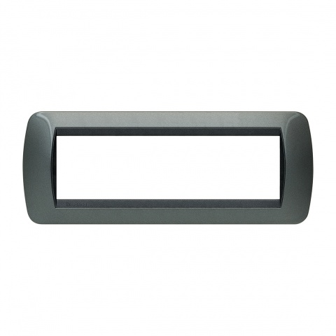 седеммодулна рамка, dark steel, bticino, livinglight, l48027ac