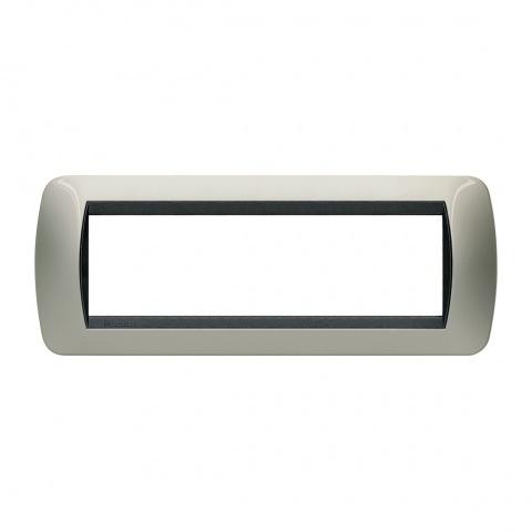 седеммодулна рамка, light titanium, bticino, livinglight, l4807tc