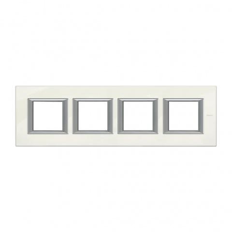 рамка четворна, white limoges, bticino, axolute, ha4802m4hbg