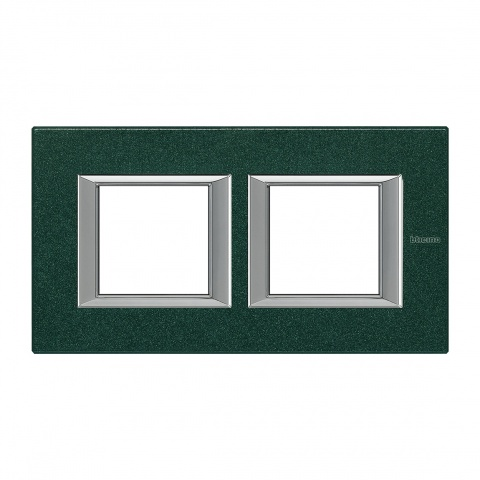 pvc двойна рамка, green severes, bticino, axolute, ha4802m2hvs