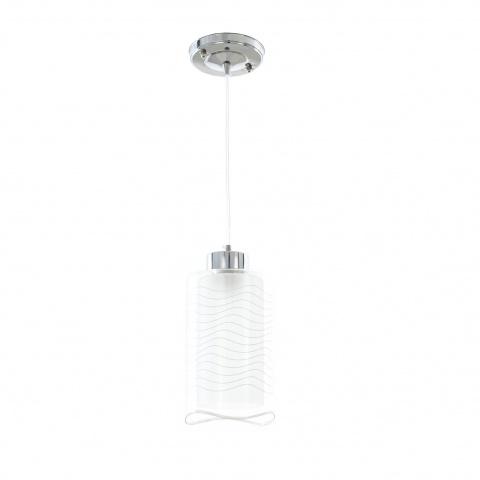 стъклен пендел, хром, elbulgaria, 1x40w, 1184/1p