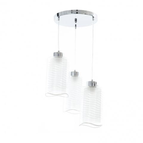 стъклен полилей, хром, elbulgaria, 3x40w, 1184/3p
