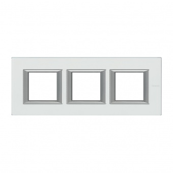 стъклена тройна тройна рамка, mirror glass, bticino, axolute, ha4802m3hvsa