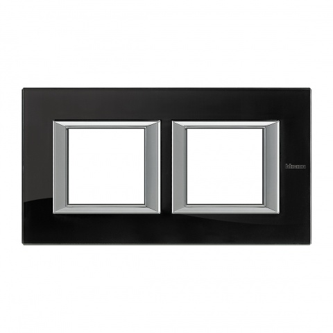 стъклена двойна рамка, nighter, bticino, axolute, ha4802m2hvnb