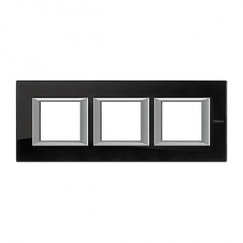 стъклена тройна рамка, nighter, bticino, axolute, ha4802m3hvnb